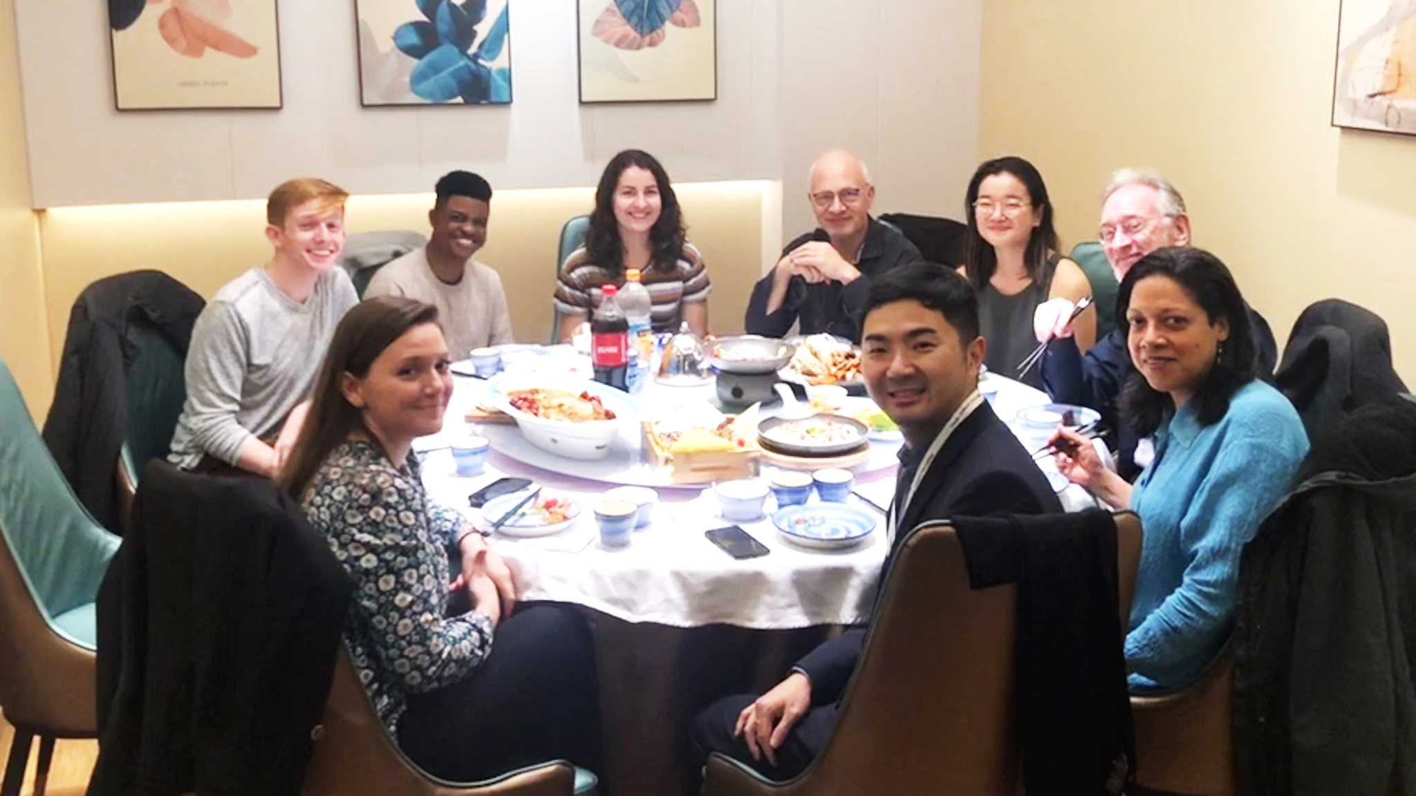 Dinner with the Juilliard String Quartet members, Dean Meyer and Dean Shen. Photo credit: Adam Meyer