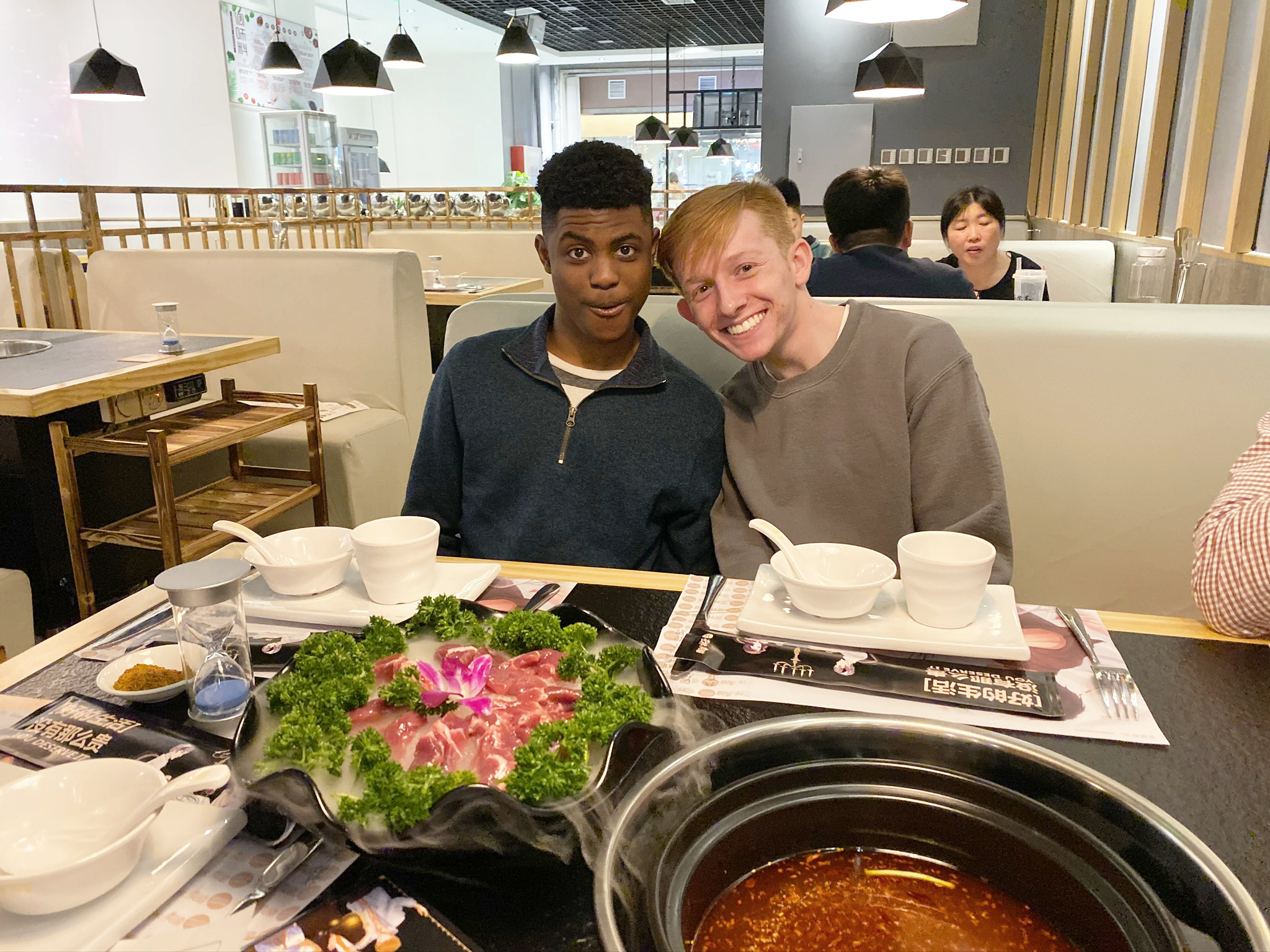 Hot pot for lunch! Photo credit: Valerie Kim
