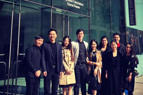 Yujie Molly He (second from the right) with Juilliard CSSA outside Juilliard. Photo credit: Yujie Molly He